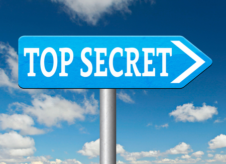 private information: top secret confidential and classified information private property or information road sign arrow