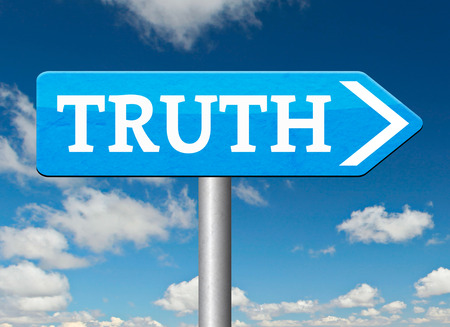 seeking an answer: discover truth be honest honesty leads a long way find justice law and order Stock Photo