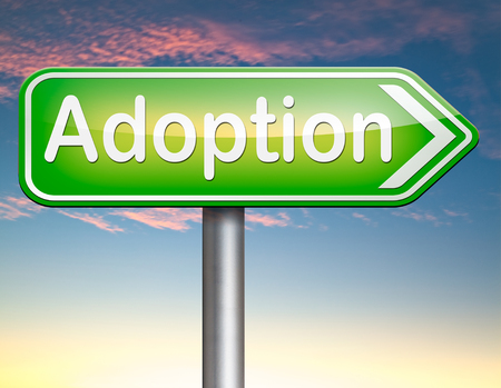 guardianship: child adoption becoming a legal guardian and getting guardianship and adopt young baby Stock Photo