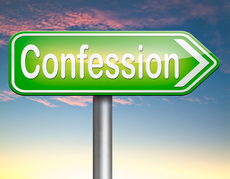 confess: confession plea guilty as charged and confess crime testimony or proof truth Stock Photo