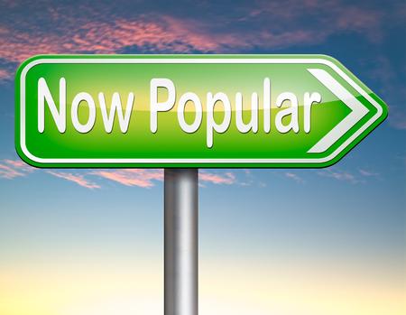trending: ora popolare tendenza ultima moda trend prodict o attivit� Archivio Fotografico