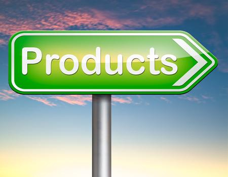 Products for sale at online internet web shop, webshop cataloge photo