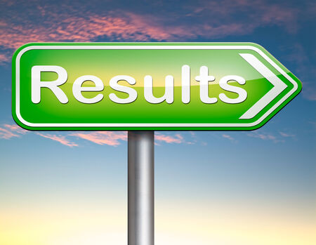 poll: results and succeed business success be a winner in business elections pop poll or sports result test result business report election results Stock Photo
