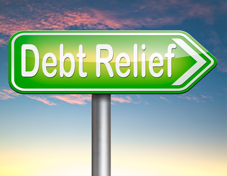 housing crisis: debt relief after bankruptcy caused by credit or housing bubbles restructuring finance after economic or bank crisis Stock Photo