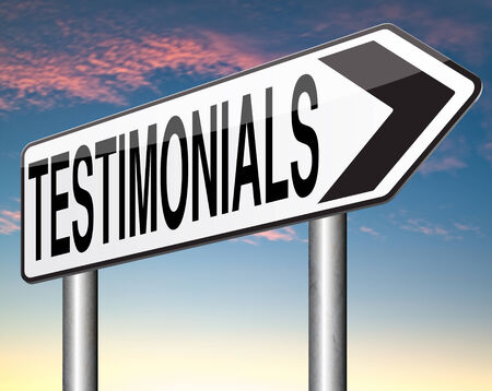 testimonial: testimonials sign customer feedback testimonial or leave a comment