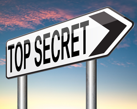 private information: top secret confidential and classified info private property or information sign
