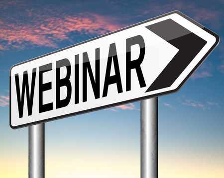 webinar online seminar or internet workshop web conference photo