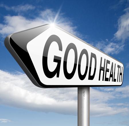 good health: goede gezondheid en vitaliteit energie levend gezonde geest en gezond lichaam leven Stockfoto