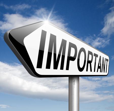 poner atencion: informaci�n importante mensaje muy importante la atenci�n info pago esencial y cr�tico alta prioridad Foto de archivo
