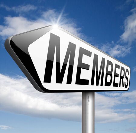 membership required restricted area access for members and VIP persons only photo