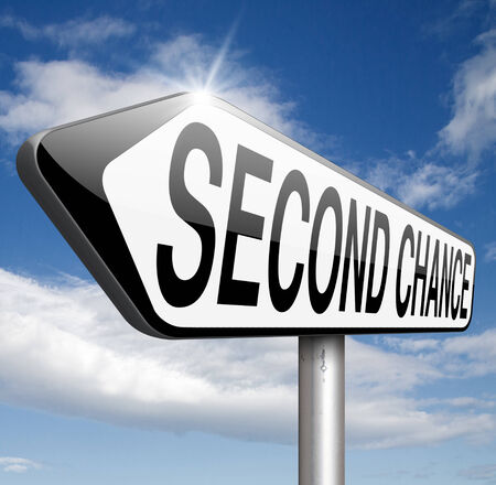 new opportunity: second chance new fresh start or another opportunity give a last attempt
