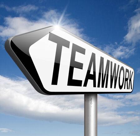 teambuilding: teamwork business concept