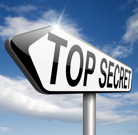 private information: top secret confidential and classified information private property or information sign