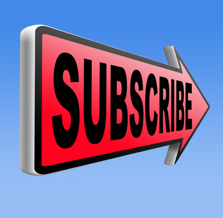 Subscribe here online free subscription and membership for newsletter or blog join today Stock Photo