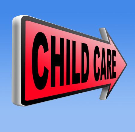 maltrato infantil: cuidado de los ni�os en la guarder�a o cuidado de ni�os para padres protecci�n contra el maltrato infantil Foto de archivo