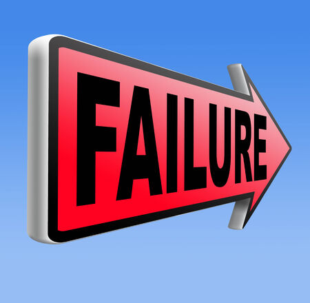 attempt: fail attempt exam or important test failure Stock Photo