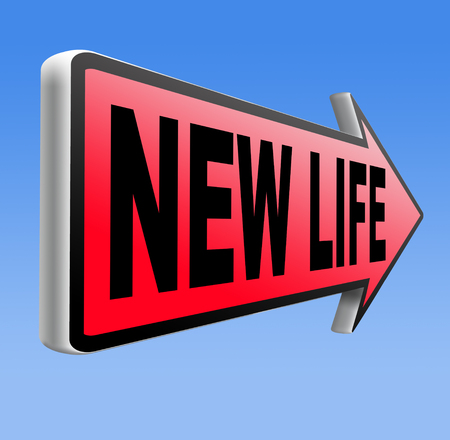 new life road to fresh begin new start sign photo