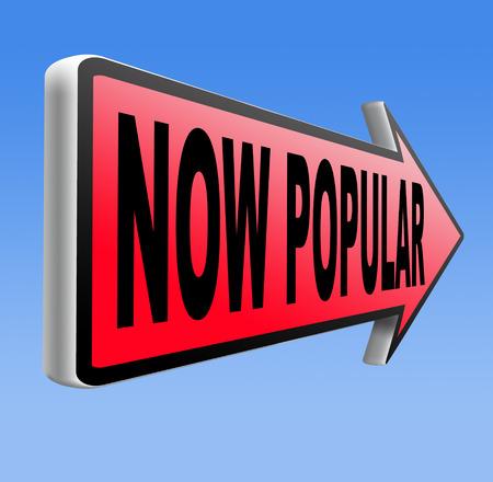 trending: ormai popolare lastest tendenza moda trend prodotto o un'attivit� cartello stradale freccia