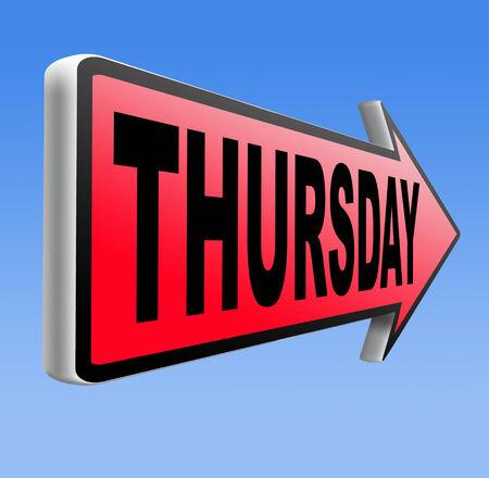 thursday: thursday sign event calendar