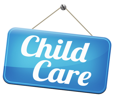 babysitting: child care in daycare or crèche by nanny or au pair parenting or babysitting protection against child abuse