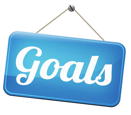 goals and ambition way to success guarantee to reach your goal and go to the top Stock Photo