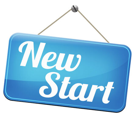 fresh start: new fresh start or chance back to the beginning and do it again