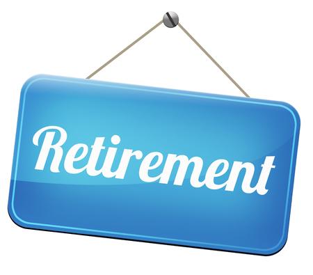 prendre sa retraite: la retraite avant la retraite et fonds de pension ou planifier ann�es d'or Banque d'images