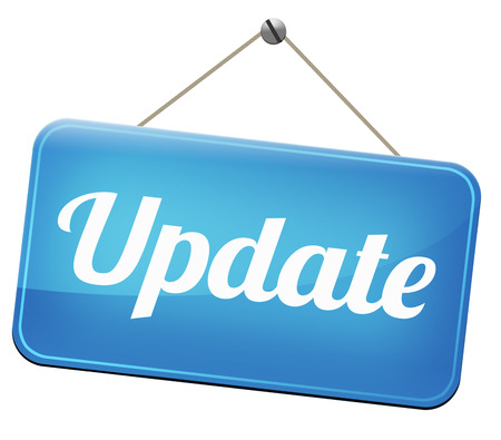 Update  updating software now and here to the latest newest version or new edition 스톡 콘텐츠
