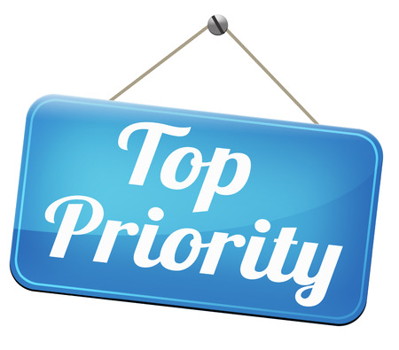 crucial: top priority important very high urgency info lost importance crucial information  stamp  or label Stock Photo