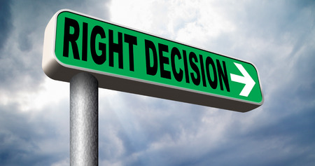difficult decision: right decision road sign choice decisions or direction for answers on questions choose wise way