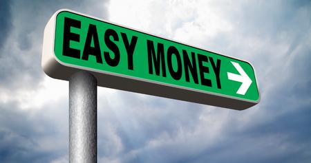 Argent rapide rapide et facile de l'argent supplémentaire de faire fortune route de revenus en ligne signe flèche Banque d'images - 33903334