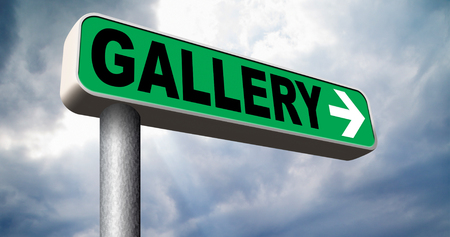 artictic: gallery wall of picture photo and image and art exhibition