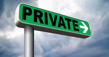 private information: privacy private information or data protected from big brother personal info Stock Photo