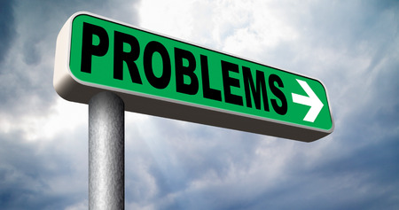 financial questions: problems solved solutions found no problem without solution road sign Stock Photo