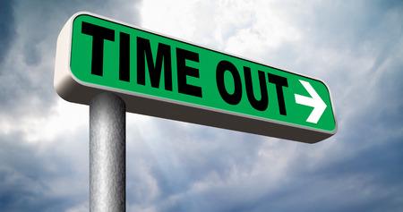 Zeit nehmen, eine Pause vom Stress und Arbeit Freizeit aus Entspannung, die ein Holliday Standard-Bild