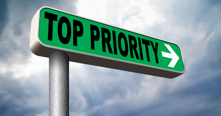 crucial: top priority important road sign arrow very high urgency info lost importance crucial information highest importance