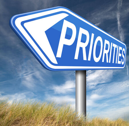crucial: priorities important very high urgency info highest importance crucial information top priority dont forget Stock Photo
