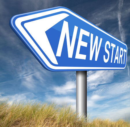 start fresh: new fresh start or chance back to the beginning and do it again