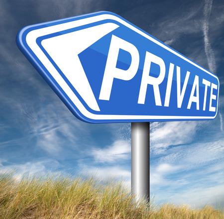 private information: private and personal information , banner for privacy protection and discretion of restricted info
