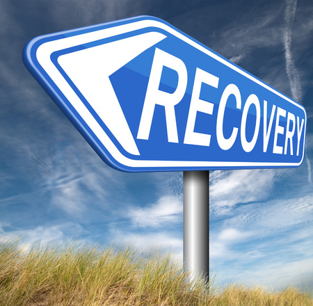 road to recovery: Recovery recover lost data or from crisis and recession road to full economic recovery