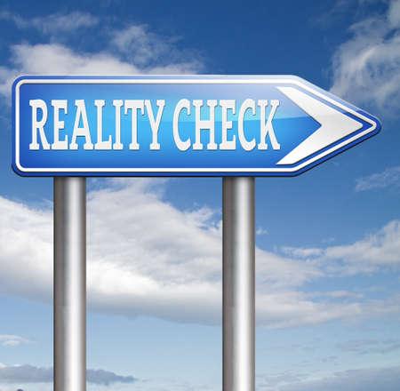 actuality: Reality Check up per eventi della vita reale e gli obiettivi realistici i piedi per terra