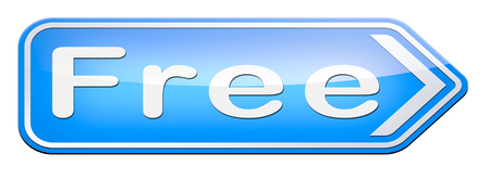hidden costs: Free product trial sample offer or gratis download webshop web shop icon Stock Photo