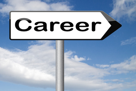 35116113 career move and ambition for personal development a nice job promotion or the search for a new job build your career or job road sign arrow