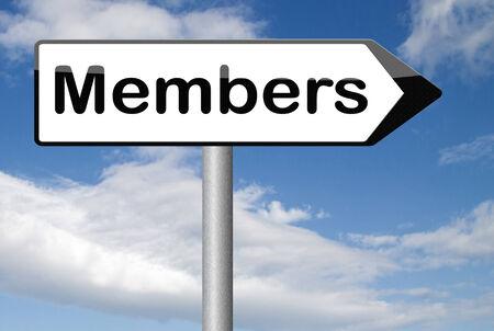 area restringida: zona restringida, requiere miembros de miembros Foto de archivo