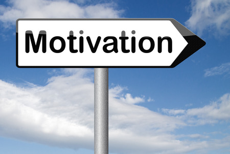 going for it: job or work motivation believe in yourself keep going and trying dont quit go for it Stock Photo