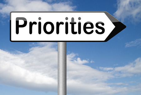 at the highest: priorities important very high urgency highest importance crucial information top priority dont forget