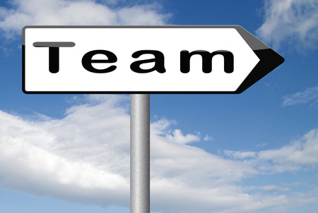 our company: Team or work or business our team banner about us sign