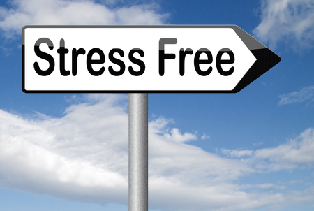 stress test: stress free zone or area relax without any work pressure succeed in stress test trough stress management reduce and control external pressure Stock Photo