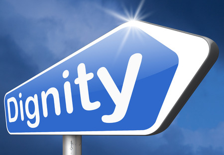 dignit�: la dignit� estime de soi ou la confiance de respect et signe de la fiert� Banque d'images