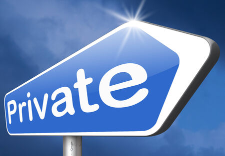 private information: private information restricted area personal data and info protect privacy